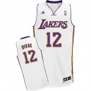 Maillot blanc NBA Vlade Divac Swingman masculine - Adidas Los Angeles Lakers & remplaçant 12
