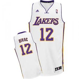 Maillot blanc NBA Vlade Divac Swingman masculine - Adidas Los Angeles Lakers & remplaçant 12