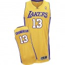 Jersey or de NBA Wilt Chamberlain authentiques hommes - Adidas Los Angeles Lakers & 13 Accueil