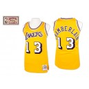 Maillot or NBA Wilt Chamberlain Throwback authentique masculin - Mitchell et Ness Los Angeles Lakers & 13