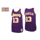 Jersey violet NBA Wilt Chamberlain Throwback authentique masculin - Mitchell et Ness Los Angeles Lakers & 13