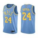 Los Angeles Lakers Kobe Bryant #24 retraite joueur classique maillot bleu