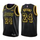 Los Angeles Lakers Kobe Bryant #24 retraite joueur ville maillot noir