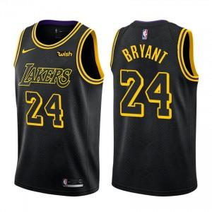 Los Angeles Lakers Kobe Bryant &24 retraite joueur ville maillot noir