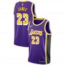 Los Angeles Lakers Masculin LeBron James ^ 23 Déclaration Purple Jersey
