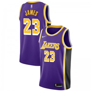 Los Angeles Lakers Masculin LeBron James ^ 23 Déclaration Purple Jersey