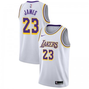 Los Angeles Lakers Masculin LeBron James ^ 23 Association White Jersey