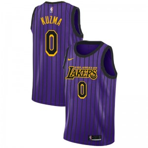 Lakers de Los Angeles Homme Kyle Kuzma ^ 0 City Purple Jersey