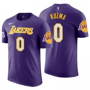 T-shirt en jersey violet avec déclaration de Kyle Kuzma Purple pour hommes ^ 0