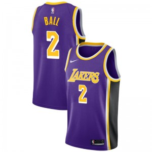 Lonzo Ball ^ 2 Statement Lakers de Los Angeles - Maillot Violet