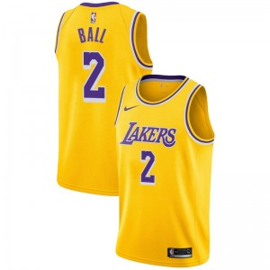 Maillot Lonzo Ball ^ 2 Icon Gold de Lakers de Los Angeles
