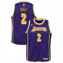 Lonzo Ball ^ 2 Déclaration pour jeunes Lakers de Los Angeles - Maillot violet