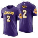 T-shirt maillot en jersey violet Lonzo Ball pourpre Los Angeles Lakers ^ 2