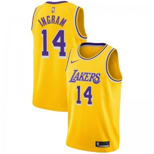 Brandon Ingram ^ 14 Icon Gold Jersey des Lakers de Los Angeles