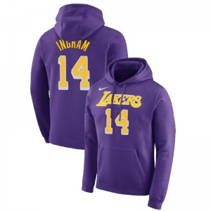 Lakers de Los Angeles Brandon Ingram ^ 14 Essential Pullover Purple Sweat à capuche