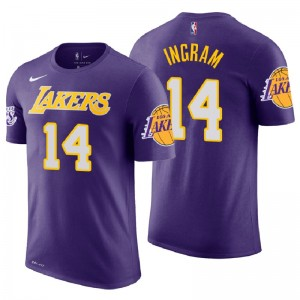 T-shirt en jersey violet Brandon Ingram Purple Statement pour hommes ^ 14 Los Angeles ^ 14