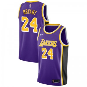 Los Angeles Lakers Kobe Bryant ^ 24 Déclaration Purple Jersey