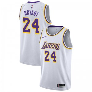 Lakers de Los Angeles Kobe Bryant ^ 24 Association White Jersey
