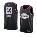 Lakers de Los Angeles # 23 Noir LeBron James Maillot Swingman All-Star 2019 pour Homme
