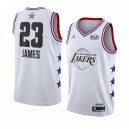 Lakers de Los Angeles # 23 Blanc LeBron James Maillot Swingman All-Star 2019 pour Homme