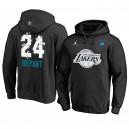 Sweat à capuche All-Star 2019 pour hommes de 24 Kobe Bryant Black de Los Angeles Lakers