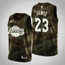 Maillot LeBron James ^ 23 Camo 2019 Memorial Day Los Angeles Lakers pour Hommes