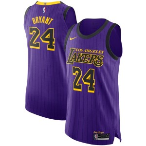 Nike Kobe Bryant &24 Los Angeles Lakers Purple 2018/19 VaporKnit authentique Maillot – City édition