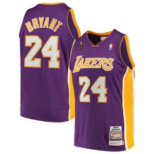 Kobe Bryant Los Angeles Lakers Mitchell & Ness 2008-09 bois franc Classics authentique Maillot – violet