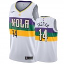 Brandon Ingram New Orleans Pelicans &14 2019-20 City Hommes Maillot - Blanc