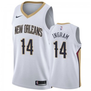 Brandon Ingram New Orleans Pelicans &14 2019-20 Association Hommes Maillot - Blanc