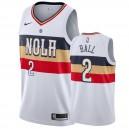 Maillot pélicans Lonzo Ball de la Nouvelle-Orléans & 2 2019-20 remporté - Blanc