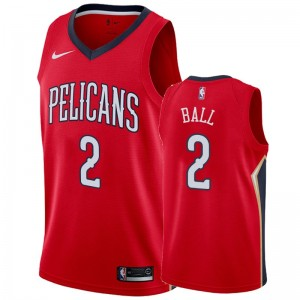 Maillot Hommes Lonzo Ball New Orleans Orleans & 2 2019-20 Statement - Rouge