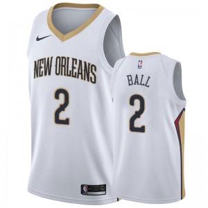 Maillot pélicans Lonzo Ball New Orleans & 2 2019-20 de l'Association - Blanc