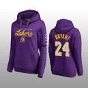 Sweat à capuche haut de gamme pour femmes - Los Angeles Lakers & 24 Kobe Bryant Fanatics - Violet