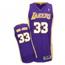 Jersey violet authentique masculin NBA Abdul-Jabbar - Adidas Los Angeles Lakers & route 33