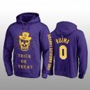 Kyle Kuzma - Pull à capuche en maille pourpre d'Halloween avec Lakers de Los Angeles