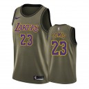 Los Angeles Lakers LeBron James Camo Vert Salute to Service Maillot