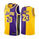 Los Angeles Lakers LeBron James Jaune Violet Split Maillot