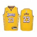 LeBron James Los Angeles Lakers Jaune City Edition 2019-20 Réplique Maillot - École maternelle