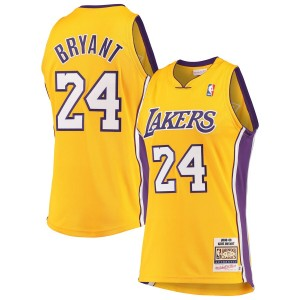 Mitchell - Ness Kobe Bryant Los Angeles Lakers Gold Hardwood Classics 2008-09 Maillot authentique