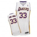 Maillot blanc authentique masculin Abdul-Jabbar NBA - Adidas Los Angeles Lakers & remplaçant 33