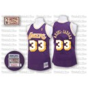 Jersey violet NBA Abdul-Jabbar Throwback authentique masculin - Mitchell et Ness Los Angeles Lakers & 33
