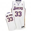 Maillot blanc Abdul-Jabbar NBA Swingman masculine - Adidas Los Angeles Lakers & remplaçant 33