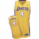 Jersey or de Byron Scott NBA authentiques hommes - Adidas Los Angeles Lakers & maison 4