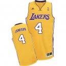 Maillot or pour hommes de Byron Scott Swingman NBA - Adidas Los Angeles Lakers & maison 4