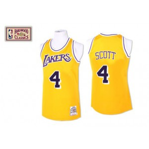 Maillot or NBA Swingman de Byron Scott Throwback masculine - Mitchell et Ness Los Angeles Lakers & 4