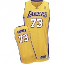 Jersey or de NBA Dennis Rodman authentiques hommes - Adidas Los Angeles Lakers & maison 73