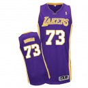 Jersey violet de NBA Dennis Rodman authentiques hommes - Adidas Los Angeles Lakers & route 73