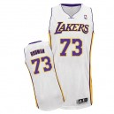 Maillot blanc de NBA Dennis Rodman authentiques hommes - Adidas Los Angeles Lakers & remplaçant 73