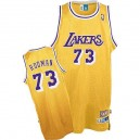 Maillot or NBA Dennis Rodman Throwback authentique masculin - Mitchell et Ness Los Angeles Lakers & 73